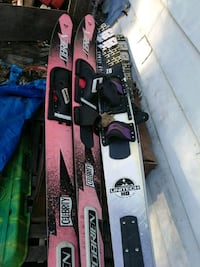 black and white snowboard with bindings Barberton, 44203