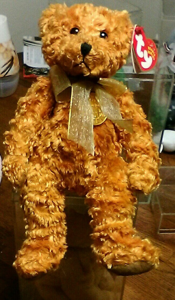Used brown TY beanie baby bear plush toy for sale in Fall River - letgo 69fc339acde5