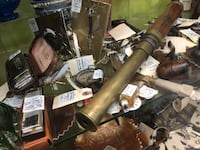 Beautiful Brass and Wood Telescope for sale. Pickering