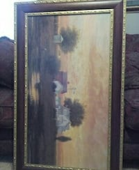 gray and brown concrete house painting in silver frame Springfield, 65804