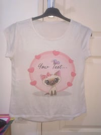 """T-Shirt """"Your text..."""" 6479 km"""