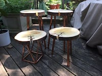 Set of four wood tables Toronto, M4E 3H8