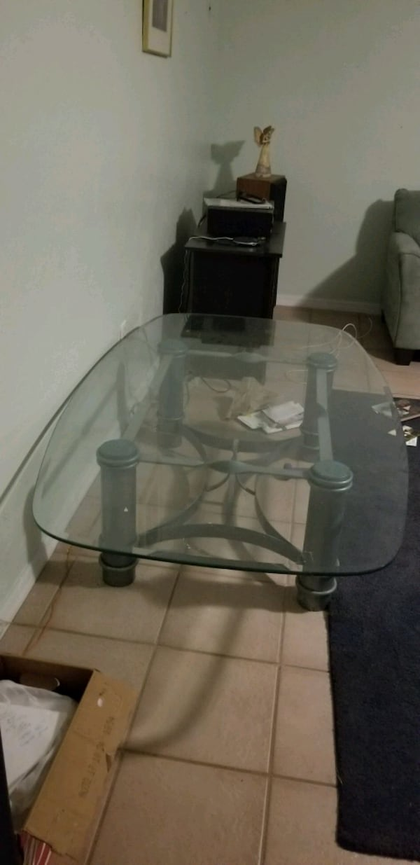 Couch, loveseat, glass table, mint color 5fa61631-fb15-4daa-bfd6-67778681ddb8