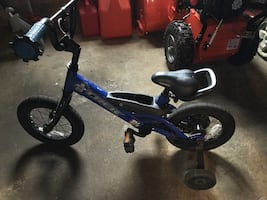 Trek bicycle with training wheels