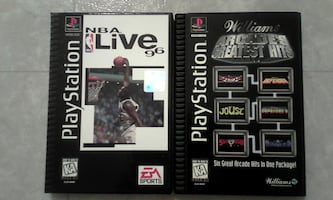 TWO PLAYSTATION 1 LONGBOX VIDEO GAMES