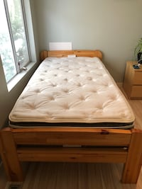Single bed -solid pine w/mattress White Rock, V4B 1P6