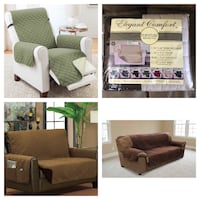 """NEW!! Located in St Thomas  Olive & Sage Extra Large Reversible Recliner Protector XL Recliner   80""""x70"""" This two-tone protector keeps your recliner free from pet hair, damage and debris. Simply flip it for a new look. Asking $40 ************ Furniture Pr St Thomas"""