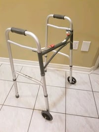 Drive Medical Deluxe Two Button Folding Walker with 5-Inch Wheels   Brampton, L6R 1L5