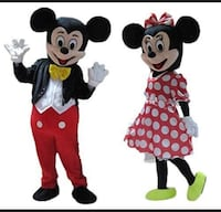 Mickey Mouse & Minnie Mouse Costume Rental. $50 Only Calgary