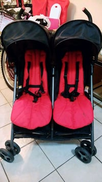 Double stroller red and black 10 km