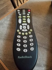 black RadioShack remote