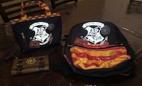 Harry potter back pack, lunch box, wallet