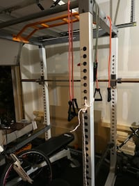 Fitness Gear Full Squat Rack & Adjustable Bench (Price Firm)