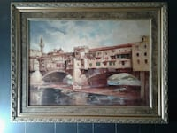 Ponte Vecchio, Florence Italy, oil on canvas Fayetteville, 72701