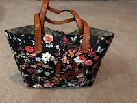 black and pink floral tote bag Calgary, T3H 4W7