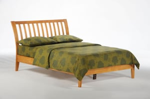 Nutmeg Platform Bed in Medium Oak  ** New-In-Box **