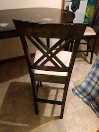 Tall dining room table and 6 chairs