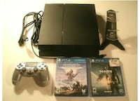 Playstation 4, PS4 500gb Console Bundle,2 Games Charging Dock,Cords & Controller ASHBURN