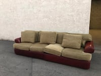 brown and beige fabric sectional sofa Huntington Beach, 92647