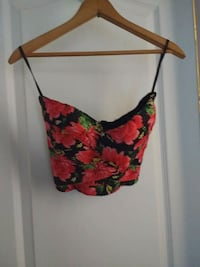 red and black floral spaghetti strap top Las Vegas, 89130