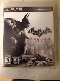 Batman Arkham City Sony PS3 game case..