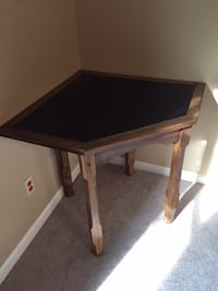 Wood Corner Table Shelby County