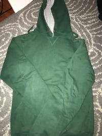 green and white pull-over hoodie jacket Burnaby, V5J 1P5