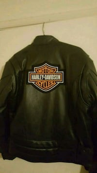 River Road Heavy Leather Motorcycle Jacket Harley
