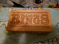 Lord of the rings cassette tapes w/ small crate Midland, 79707