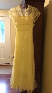 Long Dress-Yellow Lace--