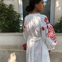 Robe cotton brodées Paris