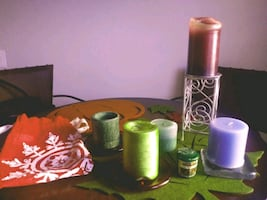 Candle Pedestal, Candles, Candle Coasters