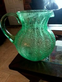 green and white ceramic pitcher Houma, 70364