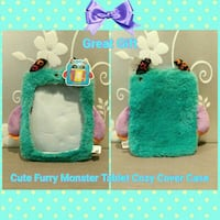 NEW CUTE FURRY MONSTER TABLET COZY COVER CASE Ontario, 91762