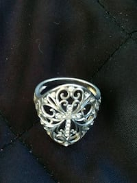 sterling silver ring size 7-8 Westminster, 80021