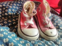 pair of toddler girl's pink Converse all star high tops Bronx, 10457