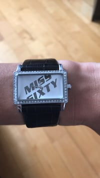 Miss Sixty black leather band watch Laval, H7X 3X9