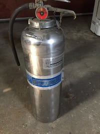 Vintage stainless fire extinguisher $20 Lombard, 60148