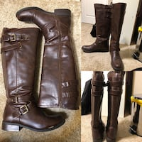 pair of black leather boots Sacramento, 95829