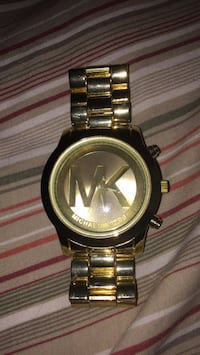 round gold Michael Kors analog watch with link bracelet Apopka, 32703