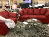 Red Ashley sofa and love seat Aberdeen, 21001