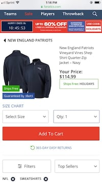 Vineyard Vines New England Patriots Shep Shirt. Excellent condition (ONLY WORE TWICE) Beckley, 25801