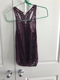 women's maroon and black sleeveless dress Clarington, L1C