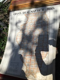 Crams Vintage Classroom Scroll Maps