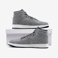 Elephant skin high top sneakers
