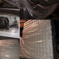 Black and gray mattress and box spring  Naperville, 60563