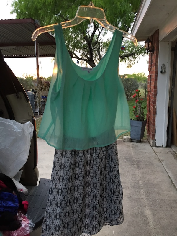 Teal dress size small /teenager