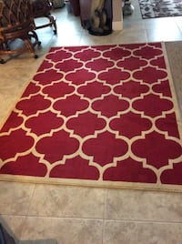 Red and tan area rug Largo, 33773