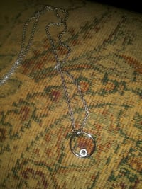 Silver and white topaz necklace. Ringgold, 30736