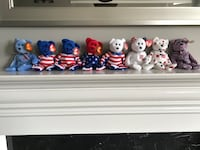 Beanie babies USA - all 8 for $10 Brampton, L6P 3B6